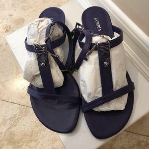 La perla violet sandals with chain